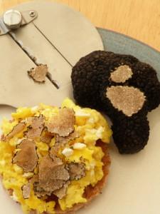 Scrambled egg with freshly shaved English truffle.